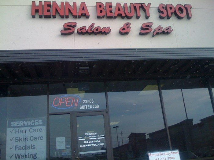 Henna beauty spot salon spa closed skin care for A b beauty salon houston