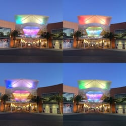 Downtown Summerlin - Las Vegas, NV, United States. The covered pavilion changes colors. Party!!