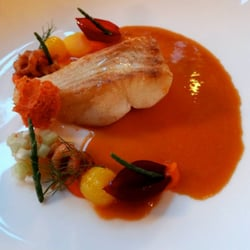 pan fried brill with a bouillabaisse,…