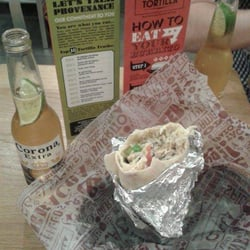 Big burrito + Corona = comme le Mc Do,…
