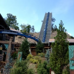 Dollywood - Lift hill for the wild eagle coaster. - Pigeon Forge, TN, Vereinigte Staaten