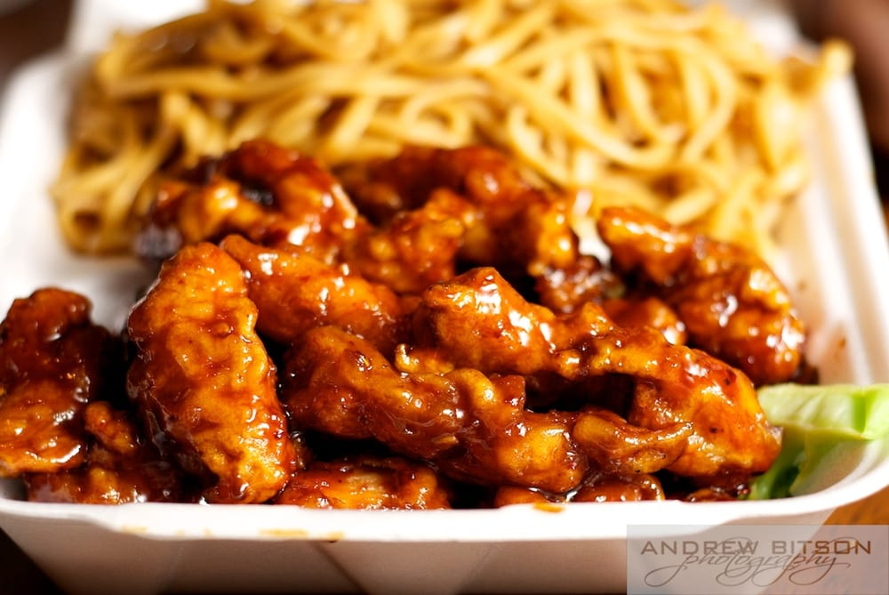 Egg Roll Express - General Tso's Chicken with Lo Mein noodles ...