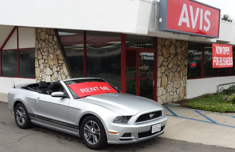 Avis Car Rental California