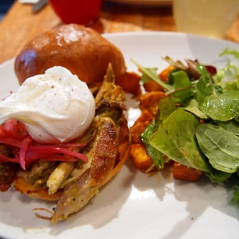 Northern Spy Food Co. - pulled chicken sandwich with salsa ...
