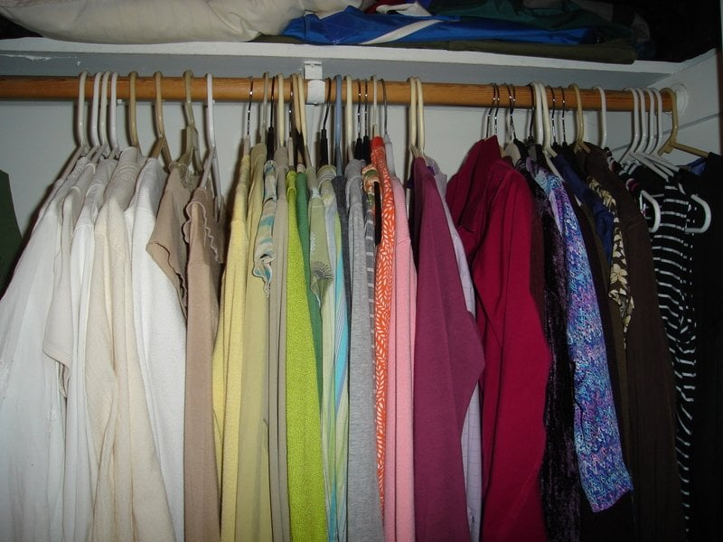 A Color Coordinated Closet Makes Gettting Dressed Every