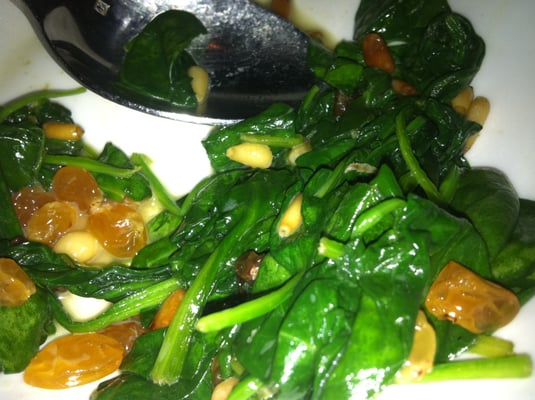 Sauteed Spinach, Golden Raisins and Toasted Pine Nuts | Yelp