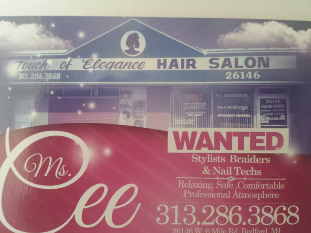 Touch of elegance hair salons redford mi united for A touch of elegance salon kauai