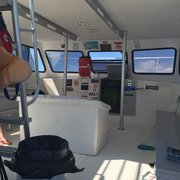 "Sundiver Snorkel Tours - Key Largo, FL, États-Unis. The interior, there is an""emergency toilet"" onboard, but suggest you visit the restrooms prior to boarding."