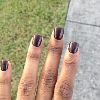 My fabulous gel manicure. Gel fill with powder. UV gel bad and top