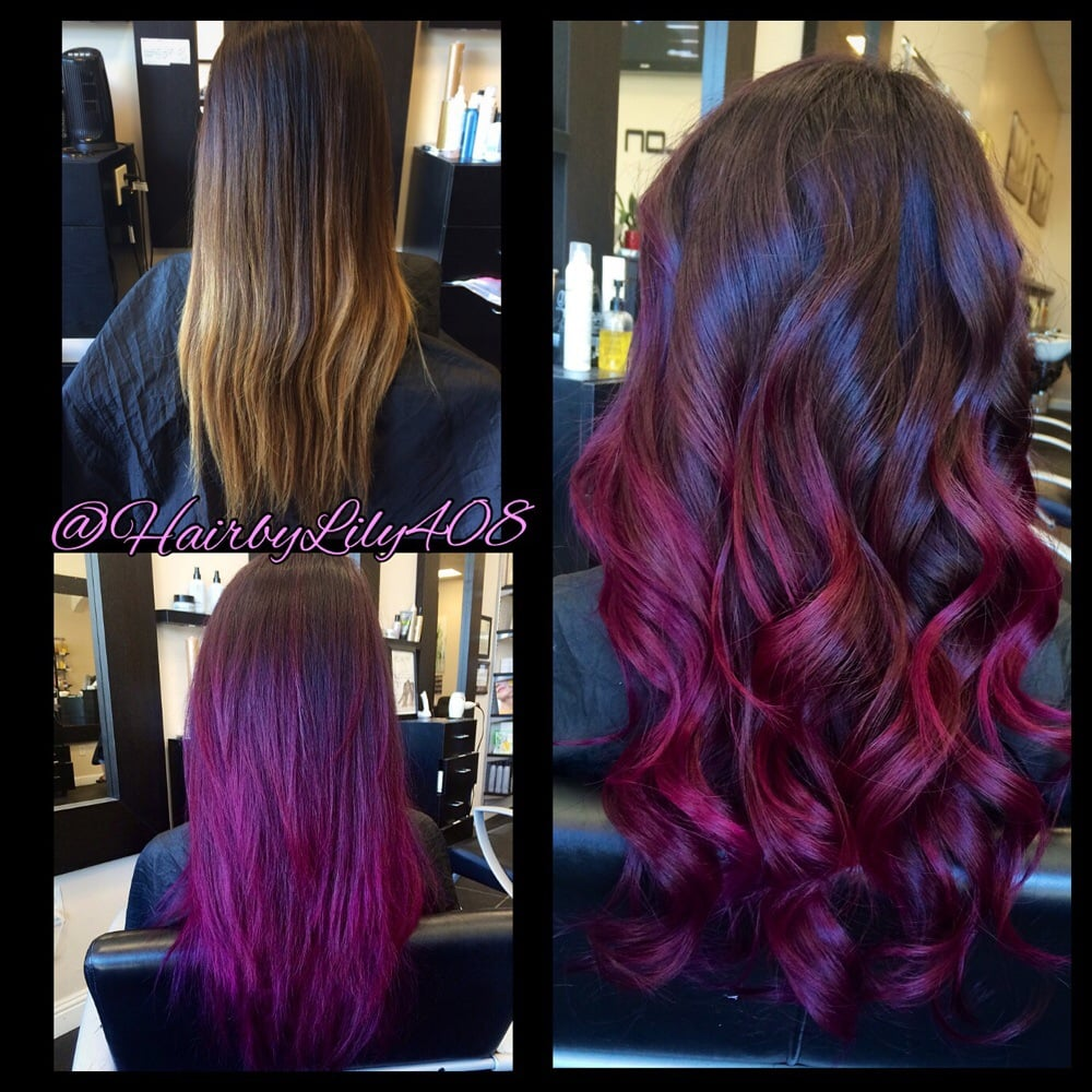 purple pink and plum ombr233 balayage yelp
