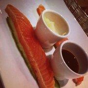 Tataki de saumon. Gingembre et sauve…