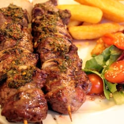 10 oz steak skewers.