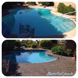 Barefoot pools pool service repair pool cleaners for Pool resurfacing phoenix az