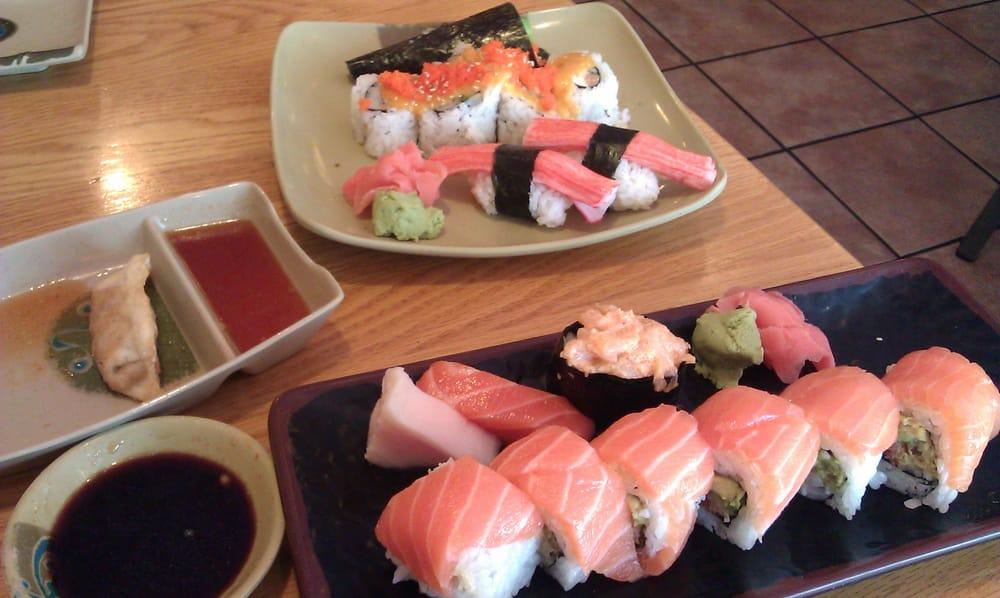 tempura hand roll, volcano maki, crab sushi, escolar ...