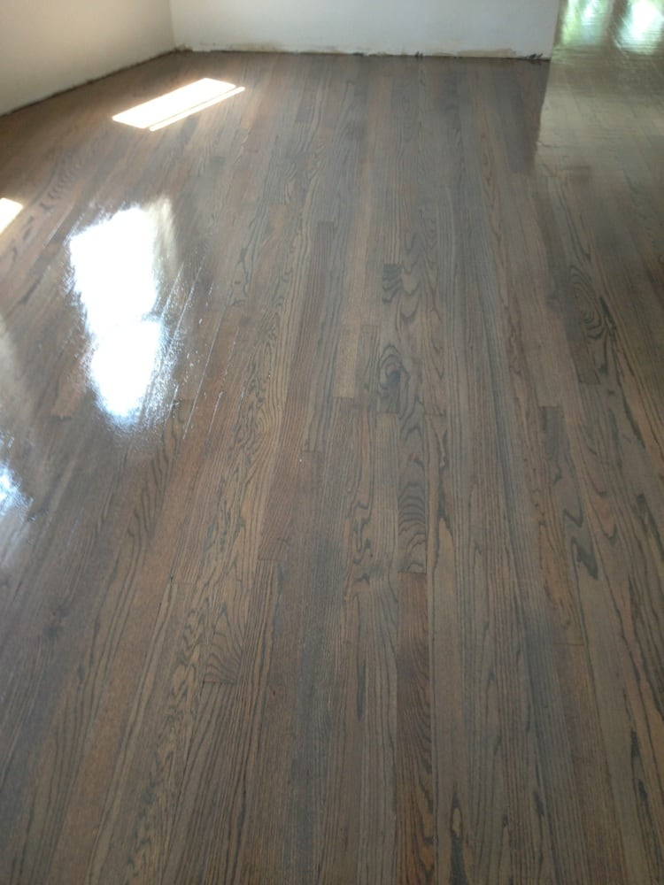 Classic grey stain with 2 coats of swedish finish yelp for Traditional flooring