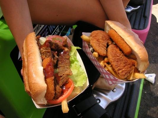 Fat Darrell sandwiches containing mozzarella sticks, chicken fingers ...