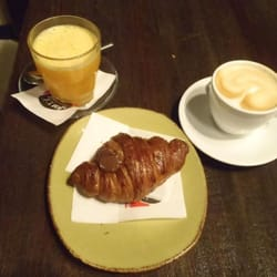 Fresh squeezed orange juice, cappuccino,…