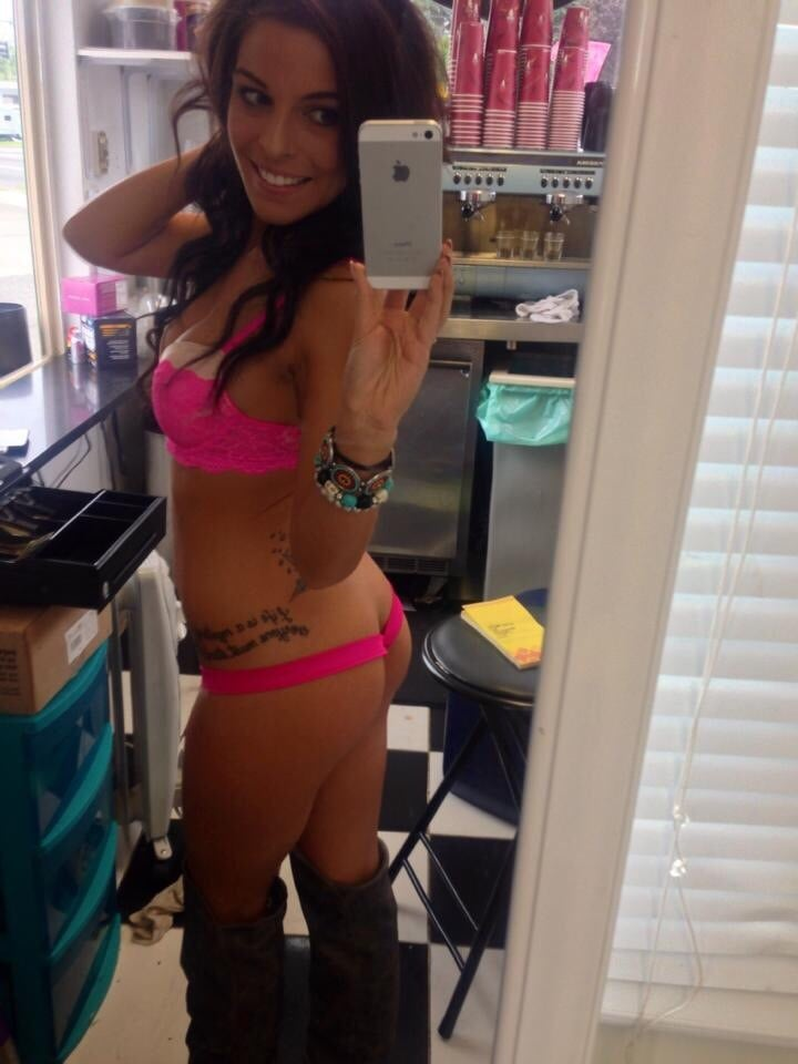 This Is Alicia Your Bikini Barista Serving Your Coffee Up