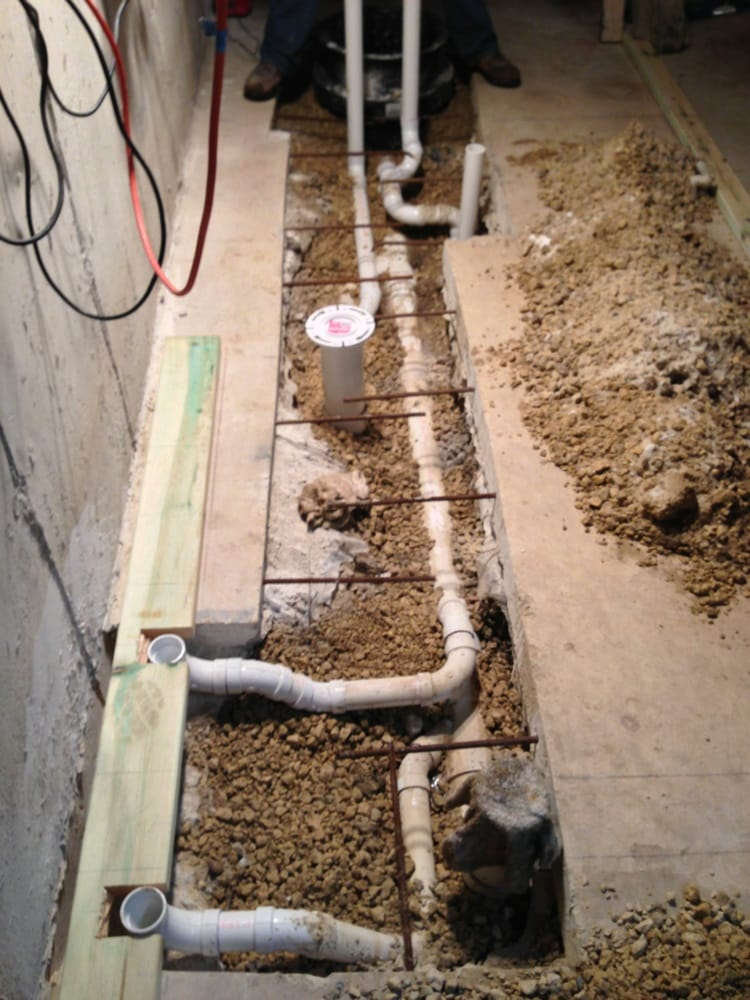 Underground Piping For Bathroom In Basement Yelp