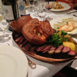 Yorkshire pudding and rib roast