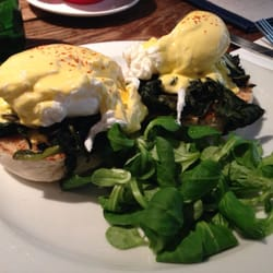 Eggs florentine, so delicious!