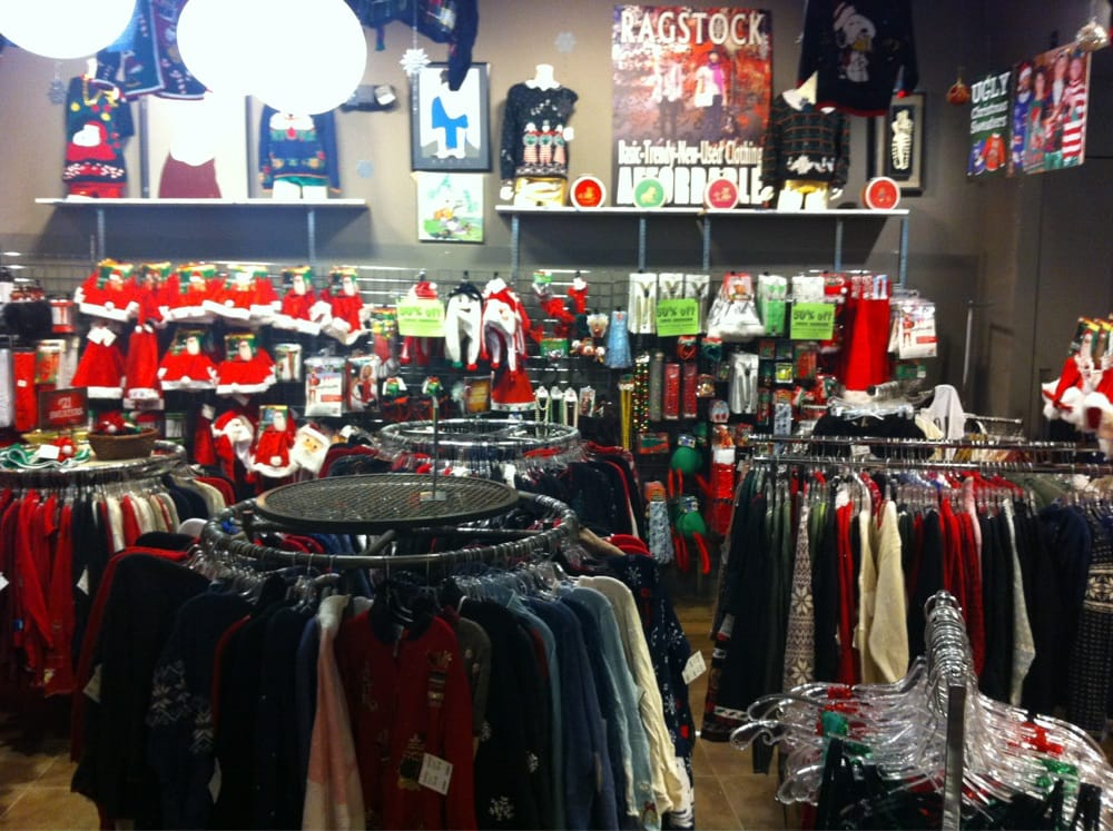 Ragstock - Schaumburg, IL, United States. So many ugly Christmas sweaters