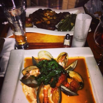 Ricardo Steak House My Clam And Shrimp Dish With Mashed