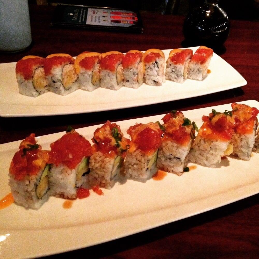 The blue fish 228 billeder japansk north dallas for Blue fish sushi menu