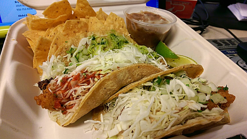 Two fish taco especial combo yelp for Rubios fish tacos