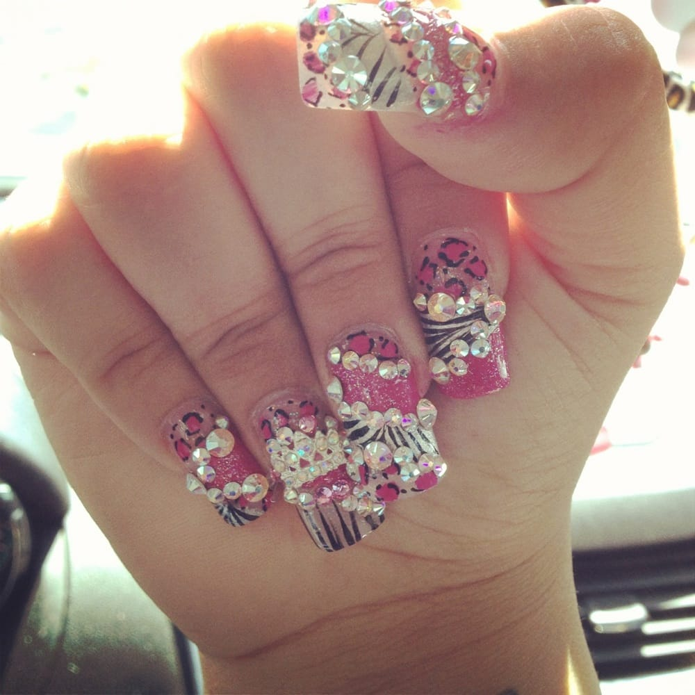 One of my many nails from here yelp for 3d nail salon upland ca