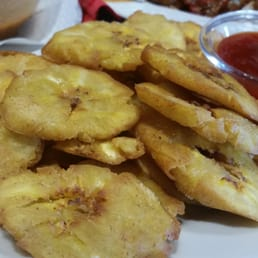 Tostones / Green fried plantains