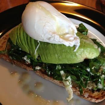 ... , ricotta, avo and oyster mushroom on multigrain. With a poached egg