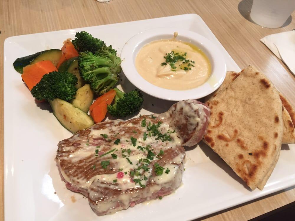 Seared ahi tuna w hummus and veggies yelp for Malibu fish grill