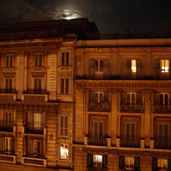 moonlight on the balcony
