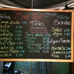 Badass Tacos - Thousand Oaks, CA, États-Unis. Updated menu! April 2014.