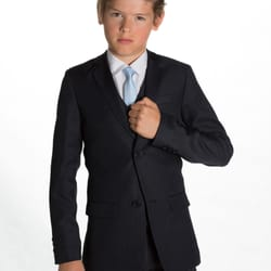5pc slim fit navy suit from £25.99