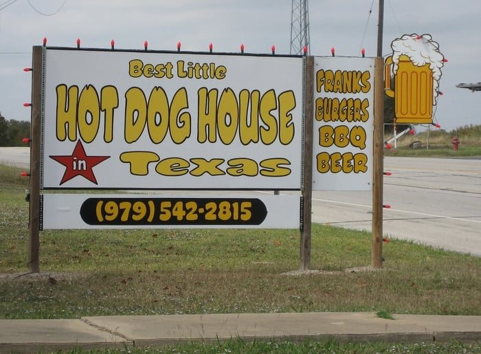 Best little hot dog house in texas yelp for Best little dog house in texas