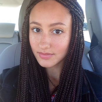 Crochet Hair On White Girl : medium length box braids Car Tuning