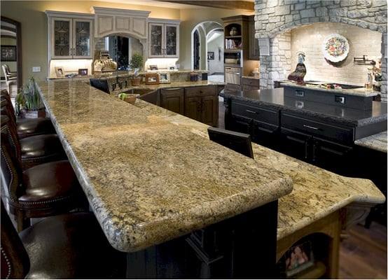 Places To Buy Granite Countertops Near Me : Stone Fabricators - Granite countertops with laminated eased edge and ...