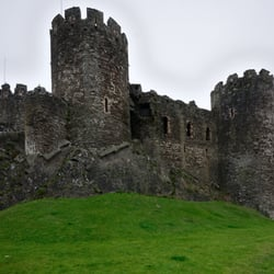 Outside the walls looking at the castle