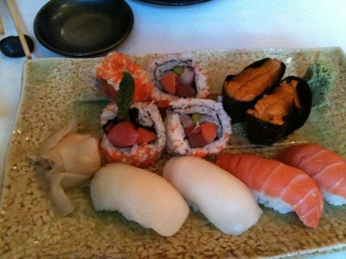 Sushi platter- special fish roll/ escolar/ salmon/uni. | Yelp