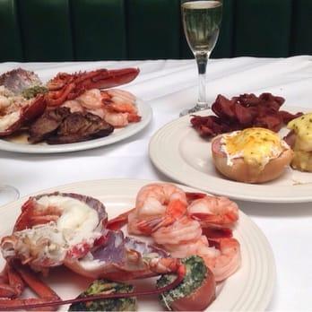 Delmonico's Lobster House - Encino, CA, United States. Boiled lobster, prime rib, eggs benedict ...