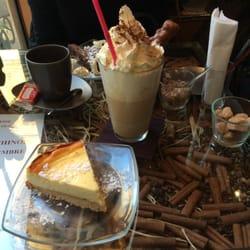 Le latte et le cheesecake. A tomber !