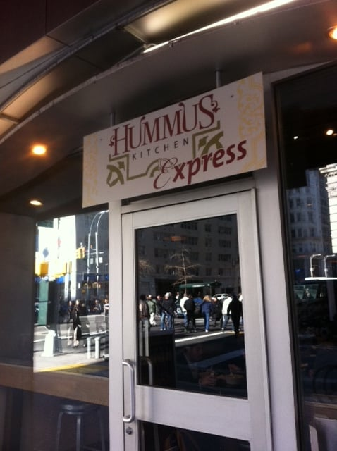 Hummus Kitchen Express St Ngt Mellan Stern Union Square Manhattan Ny Usa Recensioner