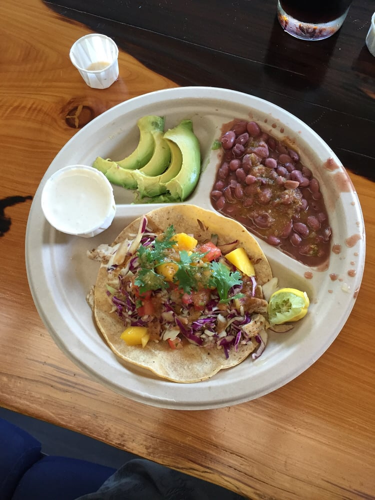 Just my usual order of fish taco side of beans avocado for Sides for fish tacos