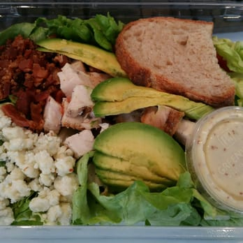 ... Butter lettuce, chicken, bacon, blue cheese, avocado, tomatoes, herbs