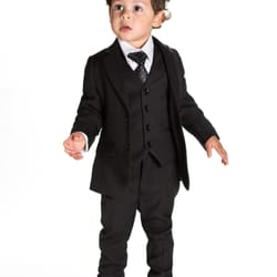 5pc slim fit black suit from £25.99