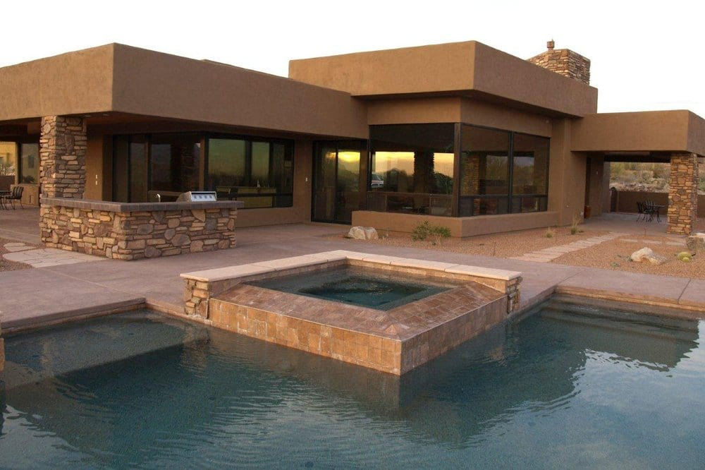 Your pool and spa from pools by design yelp for Pool design tucson