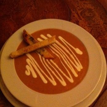 ... , AB, Canada. Soup of the Day - blended lentil soup with lemon yogurt
