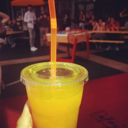 Smoothie orange à 3€50 le grand verre !
